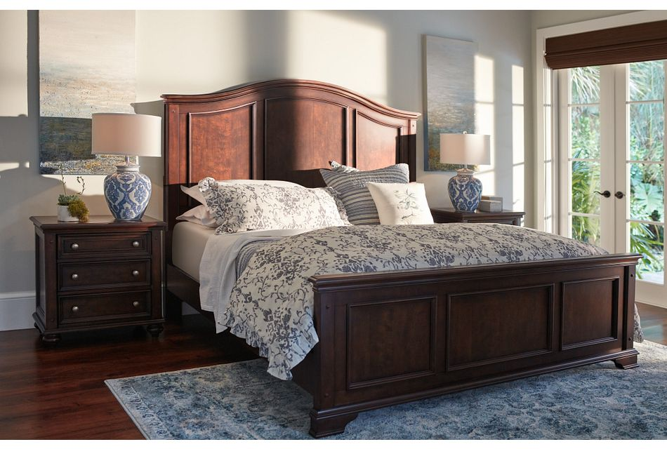 Savannah Dark Tone Panel Bed