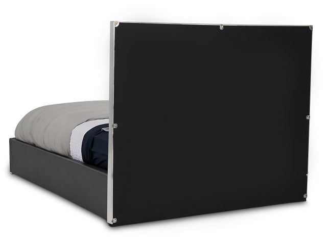 Cortina Gray Uph Platform Bed