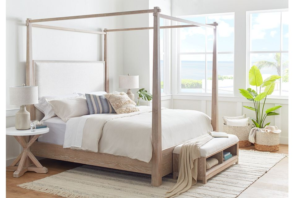 Boca Grande Two-tone  Uph Canopy Bed