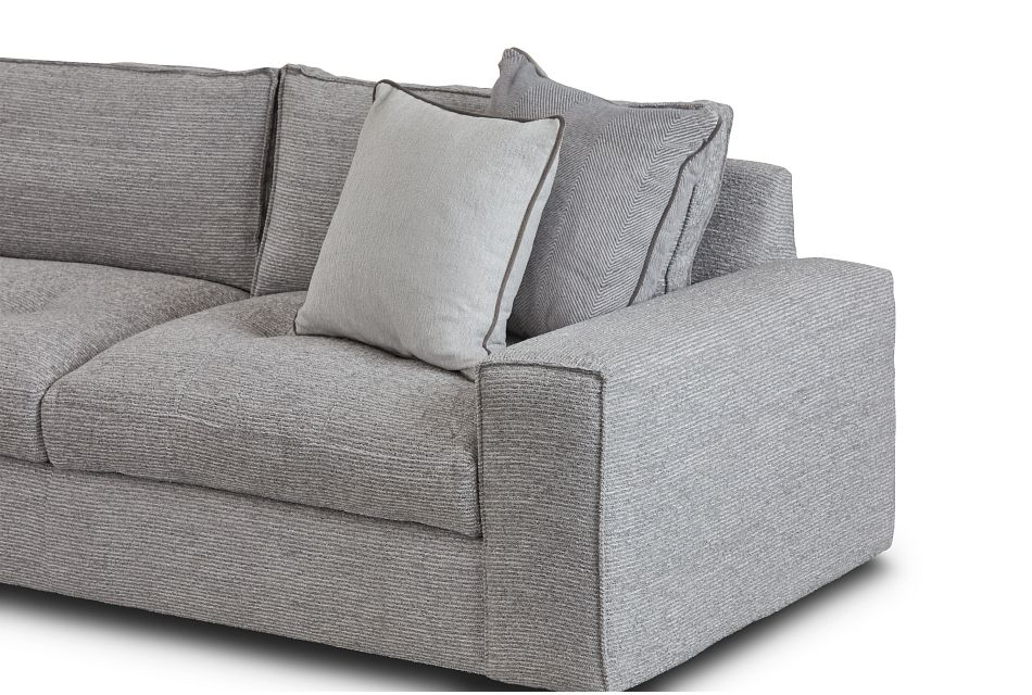 Nest Gray Fabric Small Two-arm Sectional