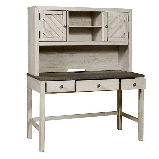 Casper Light Tone Desk And Hutch (1)