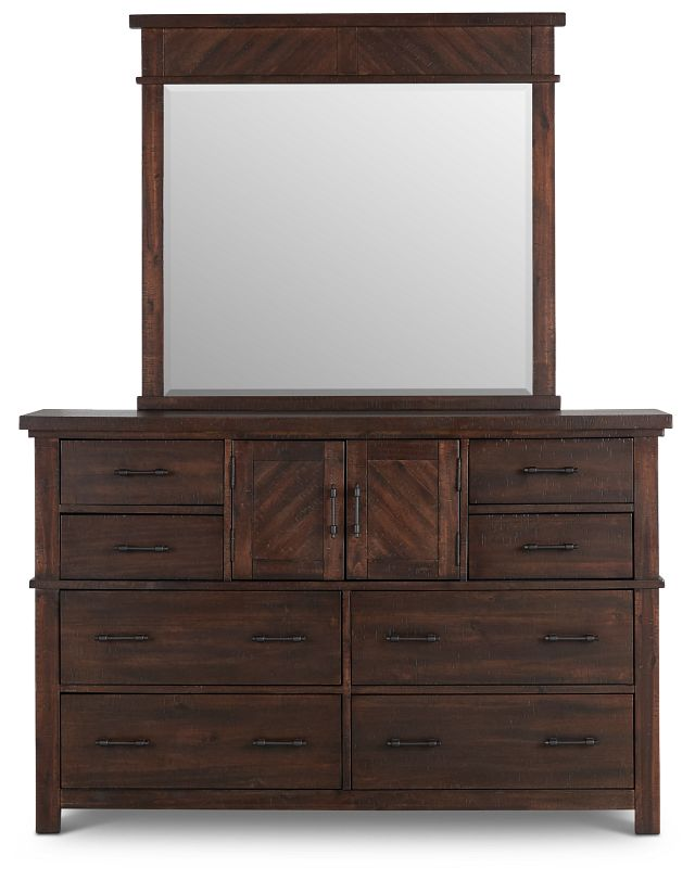 Jax Dark Tone Dresser & Mirror (2)