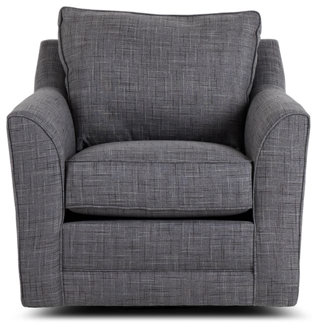 Charlie Gray Fabric Swivel Accent Chair (3)