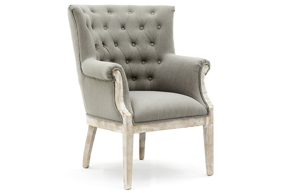 Paxton Gray Fabric Accent Chair
