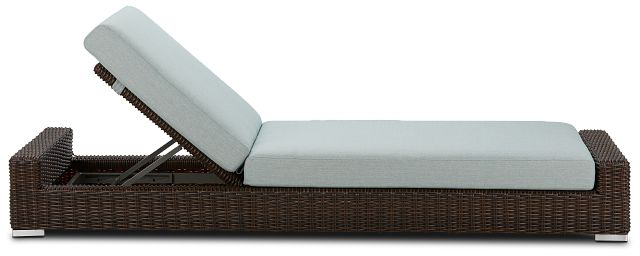 Southport Teal Woven Cushioned Chaise (1)