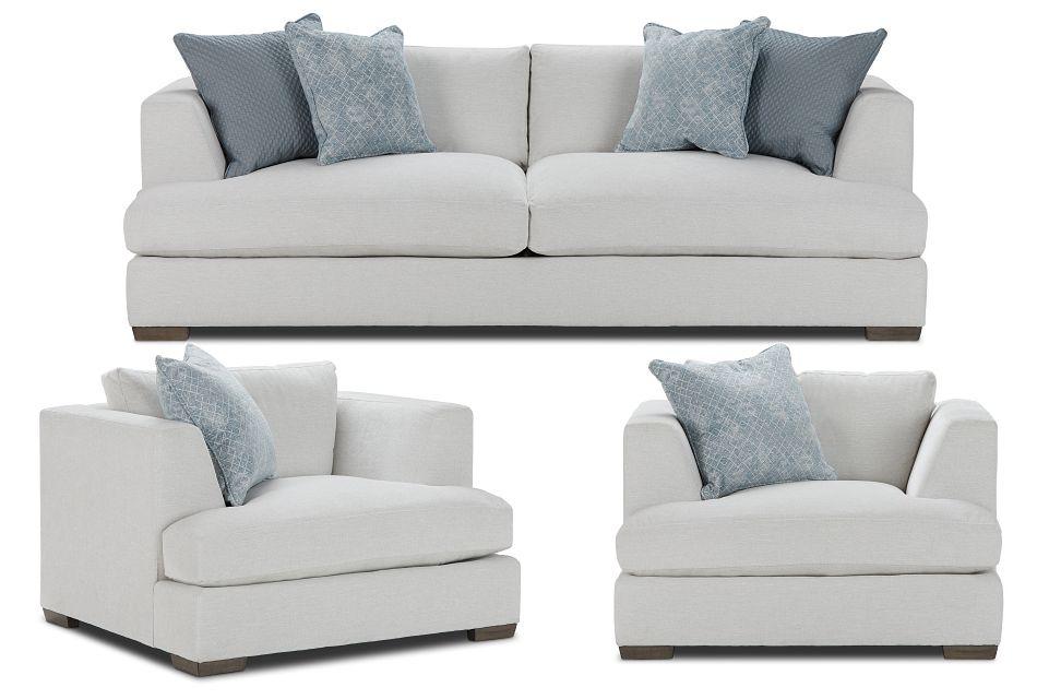 Giselle Light Beige Fabric Living Room