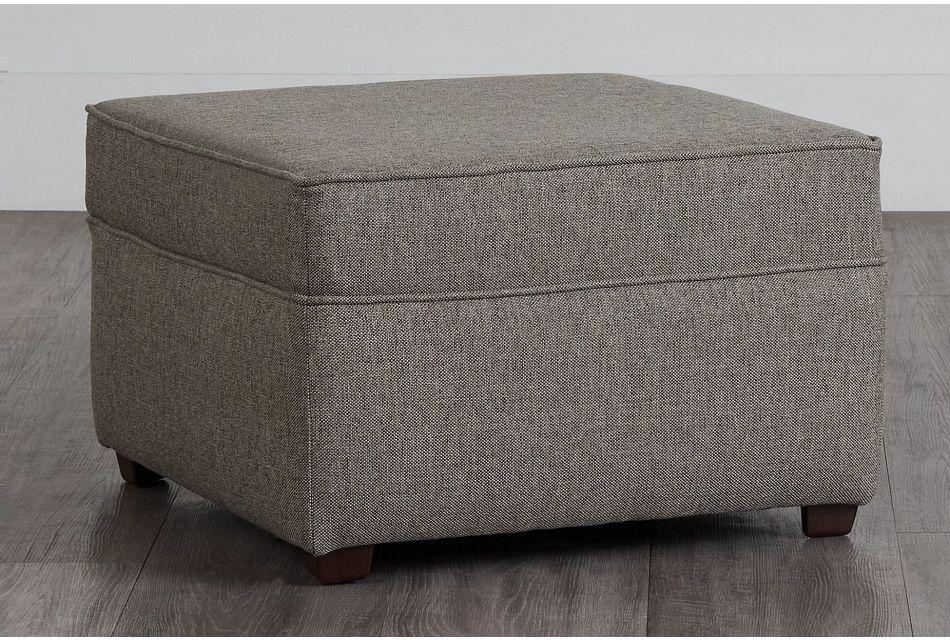 Asheville Brown Fabric Ottoman,  (0)