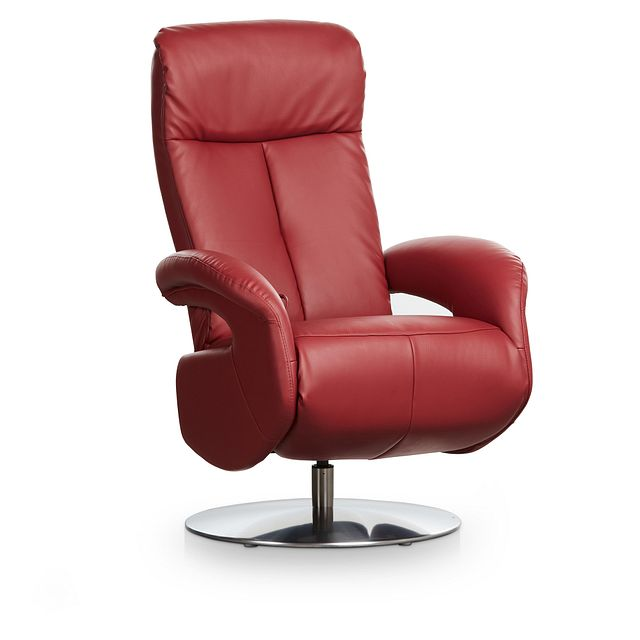Lewis Red Micro Swivel Recliner (0)