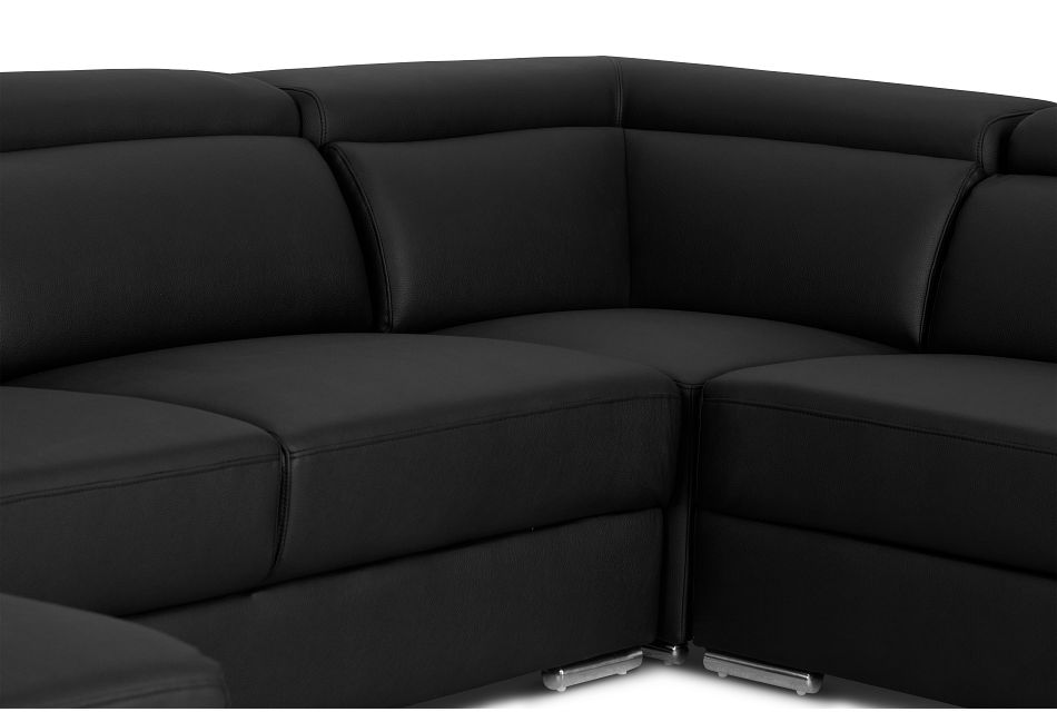 Maxwell Black Micro Large Left Chaise Sectional