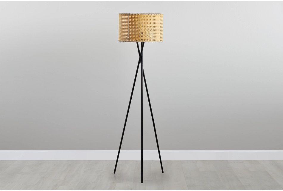 Manila Beige Bamboo Floor Lamp
