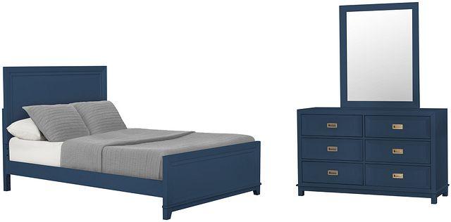 Ryder Dark Blue Panel Bedroom (0)