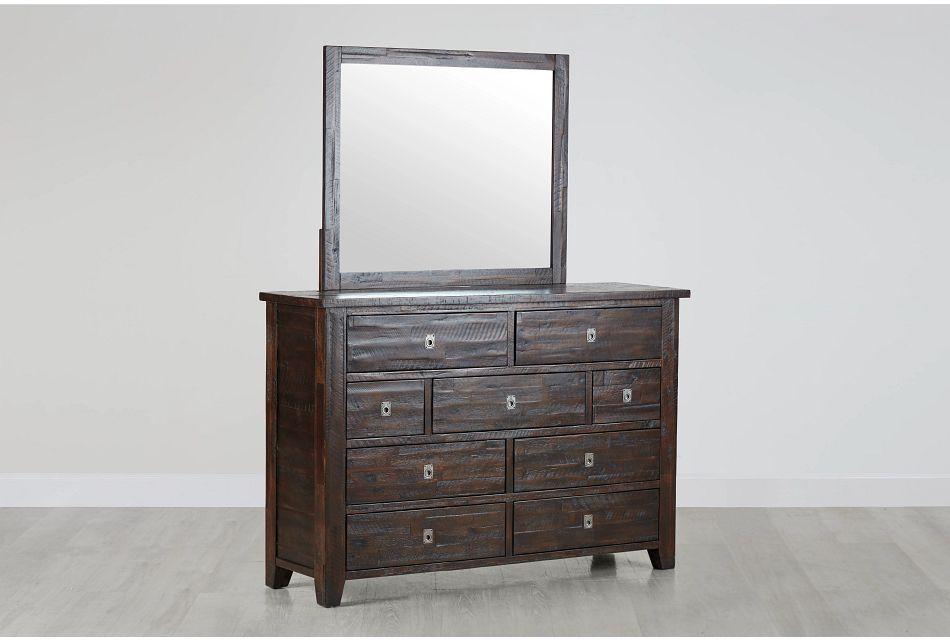 Kona Grove Dark Tone Dresser & Mirror