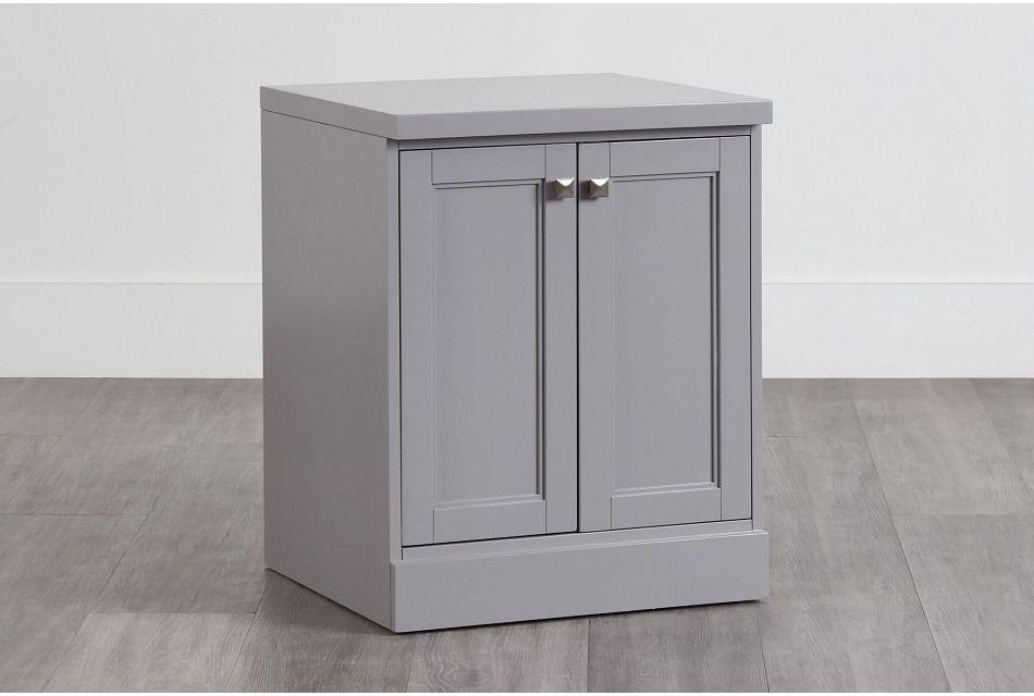 Newport Gray Door Cabinet,  (0)