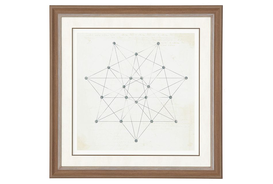 Heptagon Beige Framed Wall Art