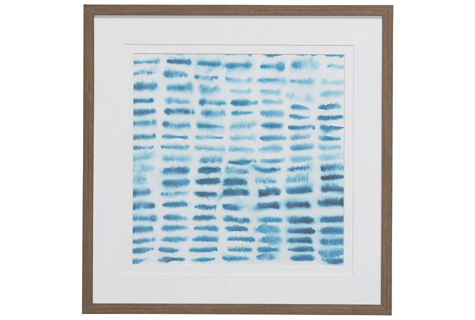 Cast Blue Framed Wall Art