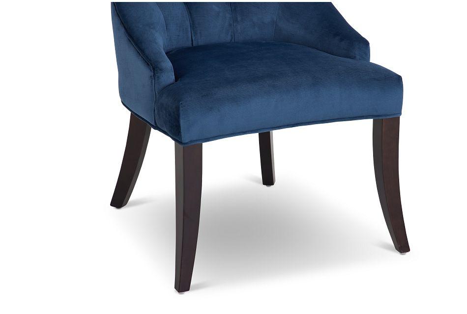 Sloane Dark Blue Upholstered Arm Chair