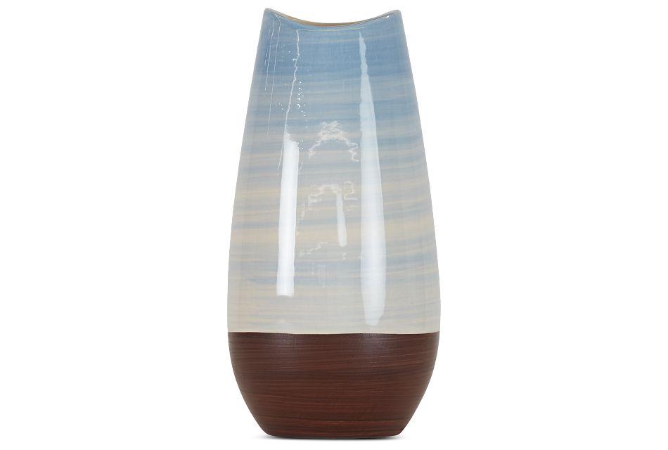 """Rilynn Blue 11"""" Vase"""
