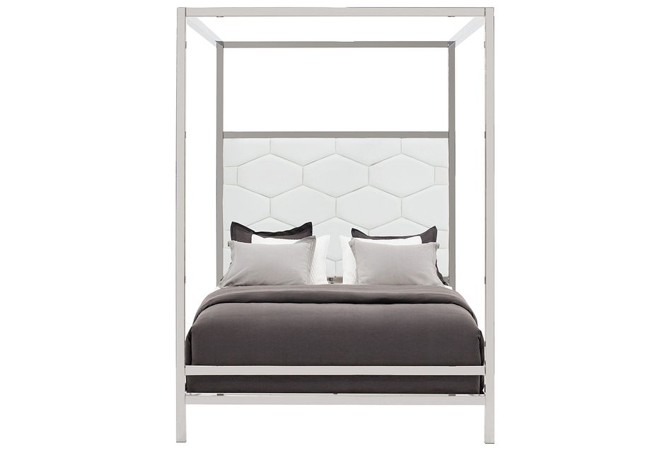 Cortina White Canopy Bed
