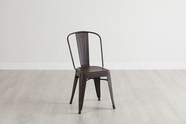 Harlow Dark Tone Metal Side Chair (0)