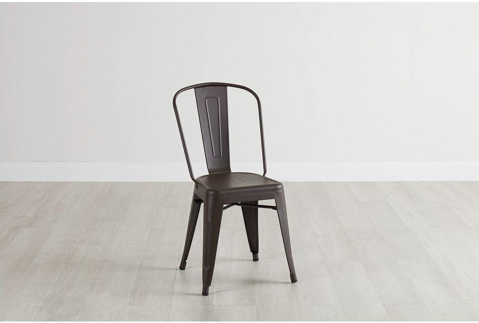 Harlow Dark Tone Metal Side Chair
