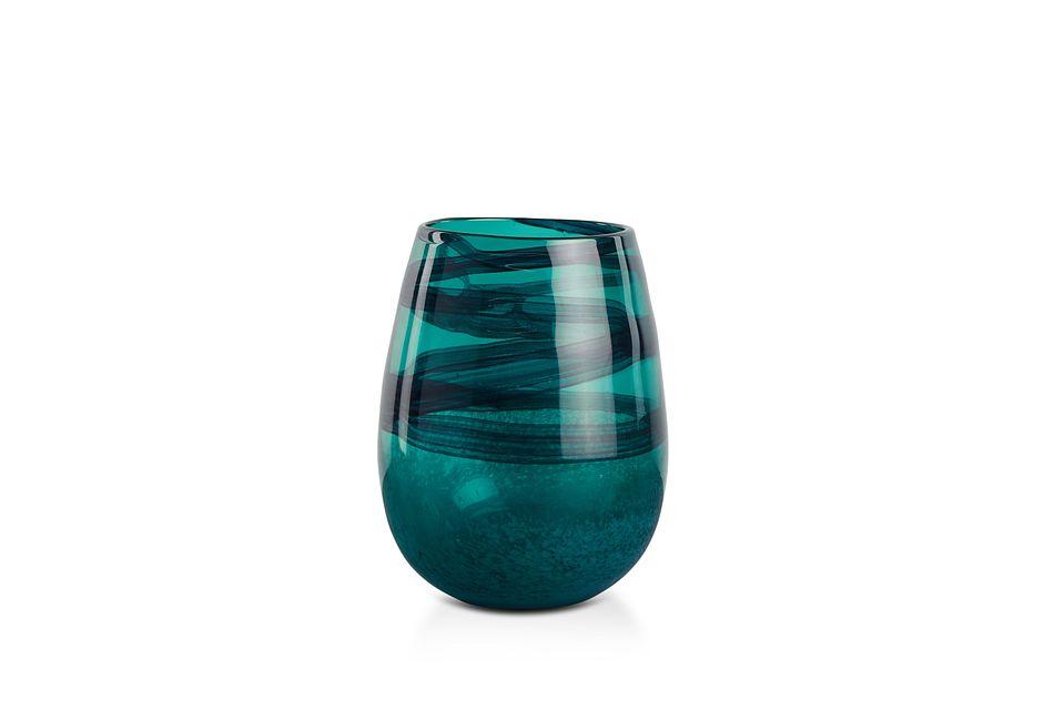 Hailee Dark Teal Vase