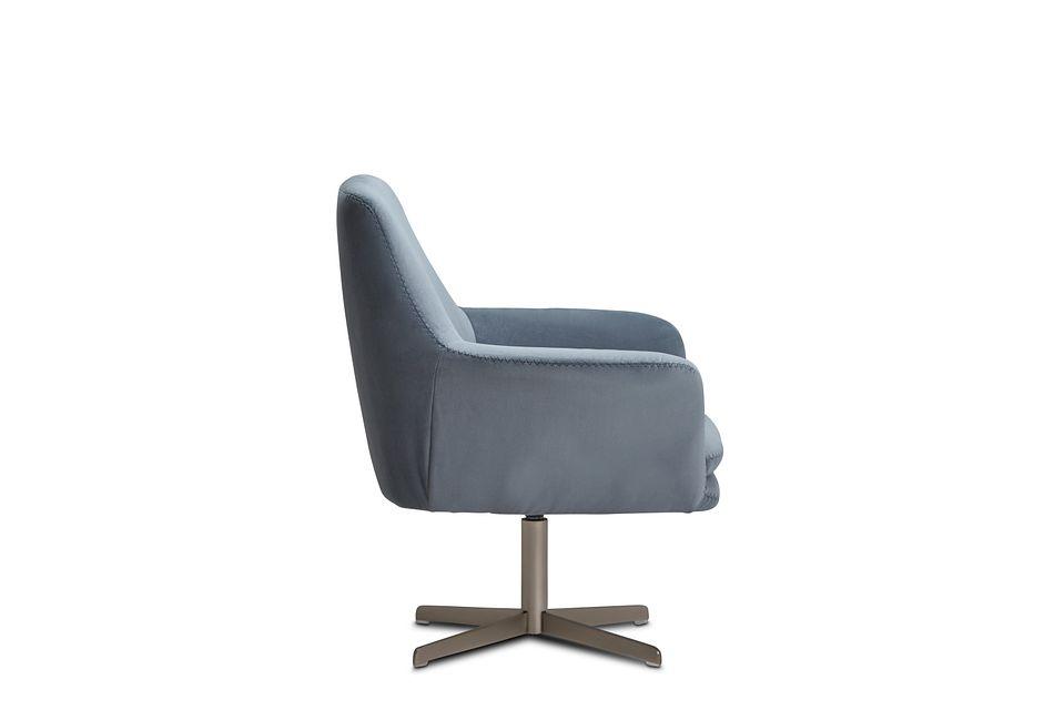 Xander Light Gray Velvet Swivel Accent Chair