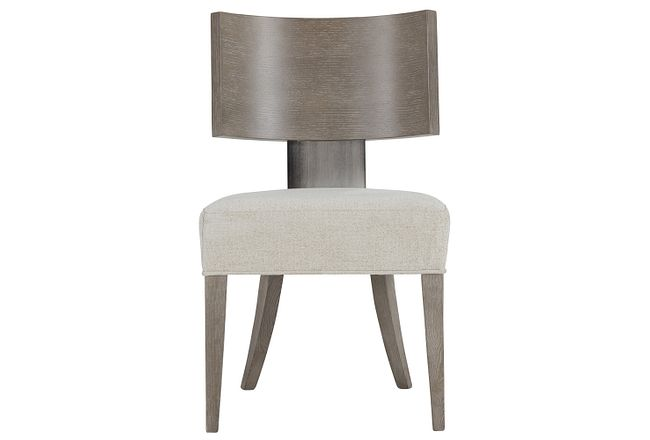 Mosaic Light Tone Curved Wood Side Chair