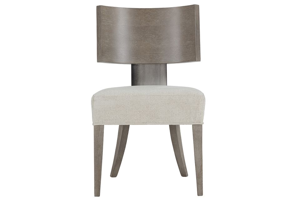 Mosaic Light Tone Curved Wood Side Chair,  (1)