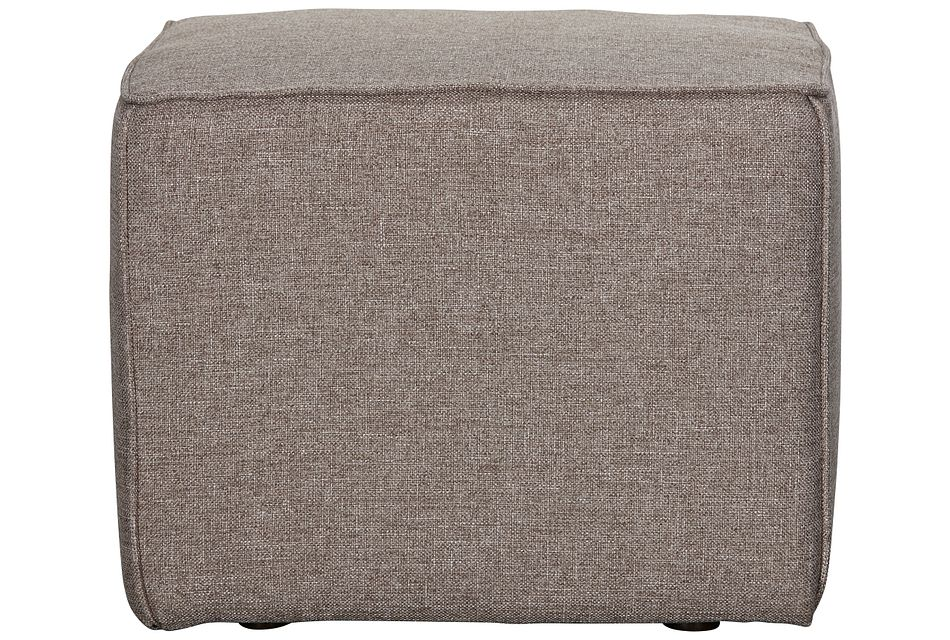 Harper Dark Taupe Fabric Accent Pouf