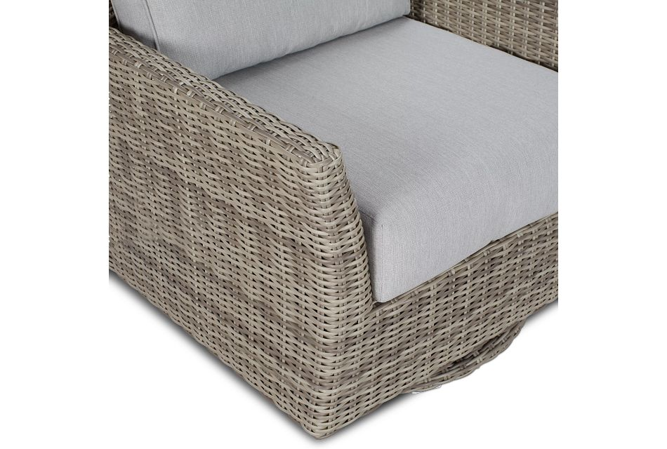 Raleigh Gray Swivel Chair