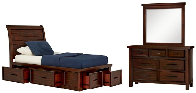 Napa Dark Tone 4-drawer Sleigh Storage Bedroom (0)