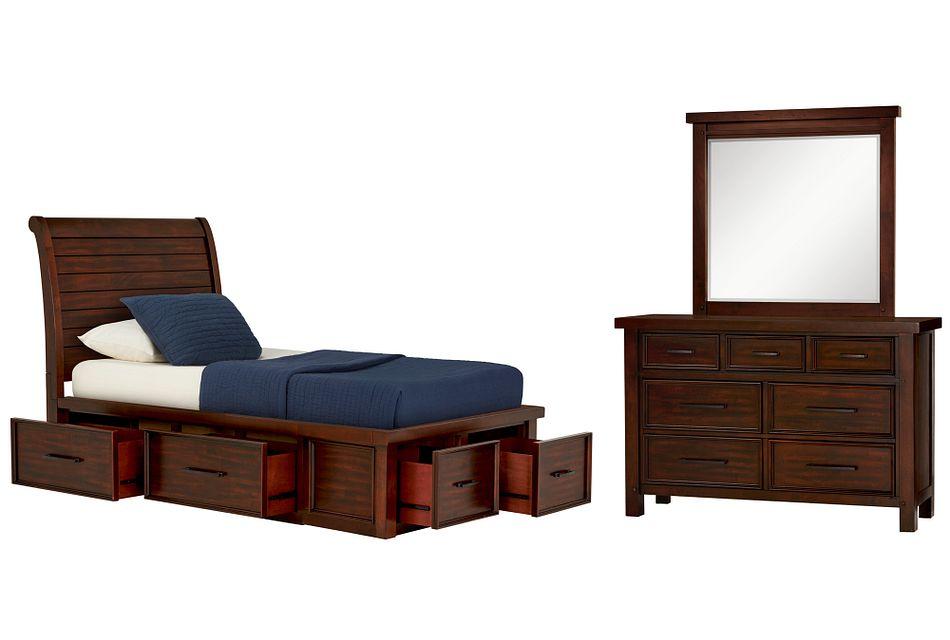 Napa Dark Tone 4-drawer Sleigh Storage Bedroom