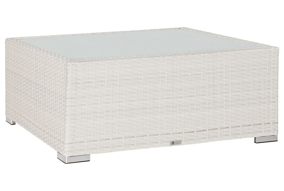 Biscayne White Square Coffee Table