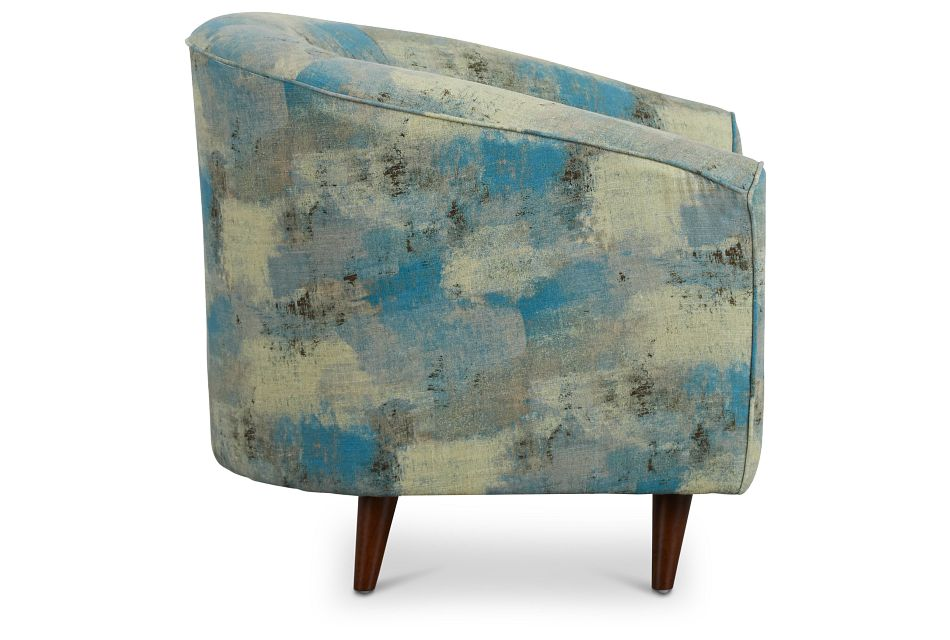 Antalya Teal Fabric Accent Chair,  (2)