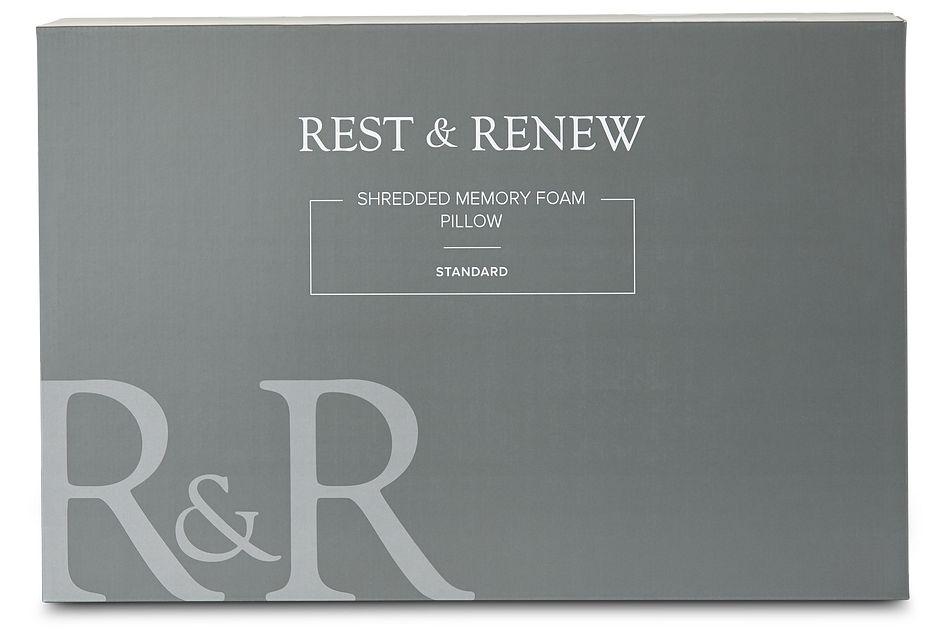 Rest & Renew Shredded Memory Foam  Firm Back Sleeper Pillow, Queen (1)