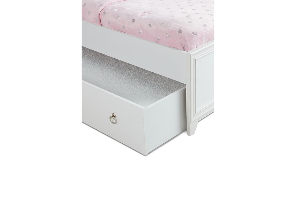Isabella White Panel Trundle Bed