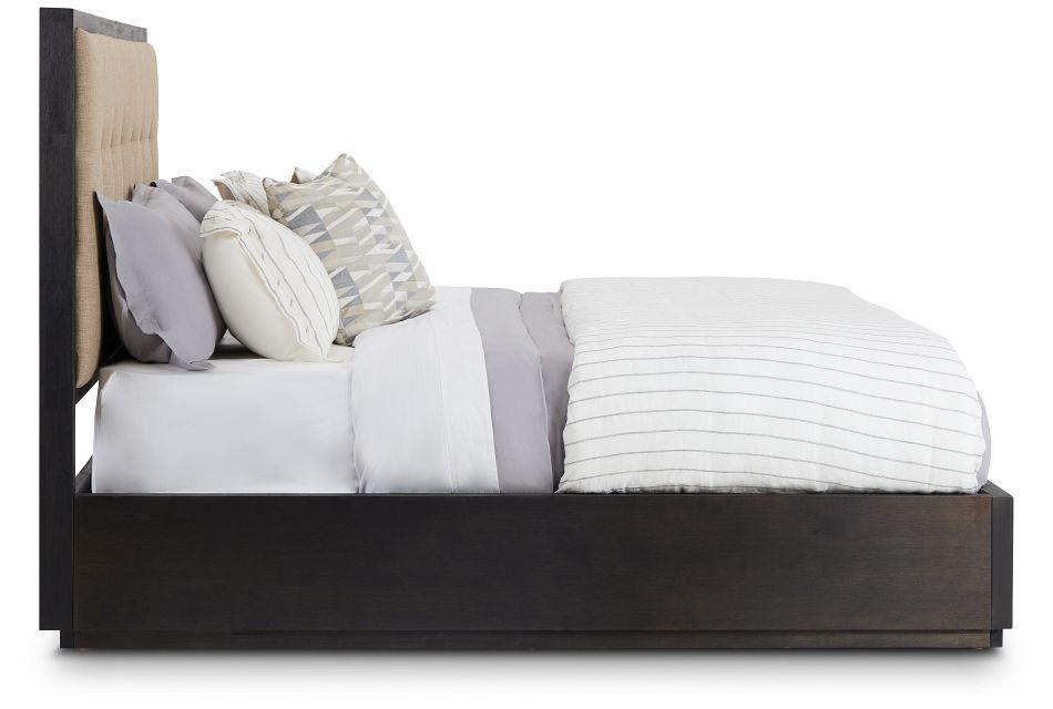 Madden Dark Tone Wood Platform Bed, King (2)