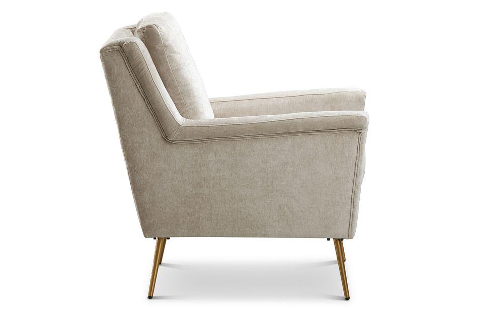 Cambridge Light Beige  Velvet Accent Chair,  (2)