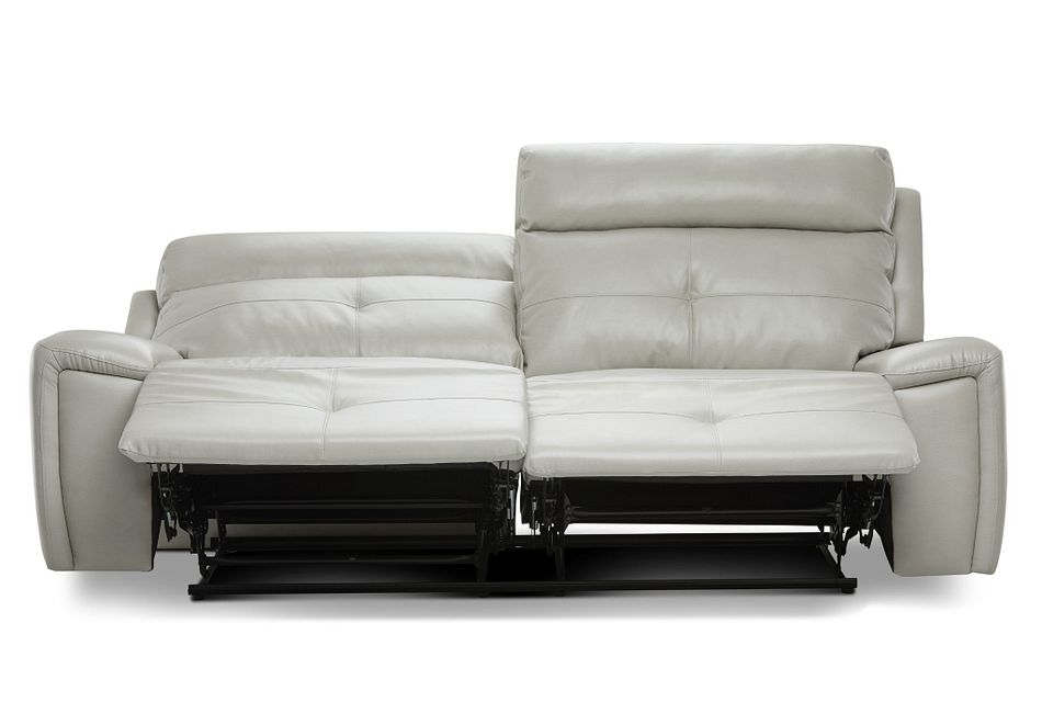 Chandler Light Gray Micro Reclining Sofa