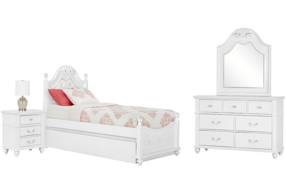 Alana White Uph Poster Trundle Bedroom