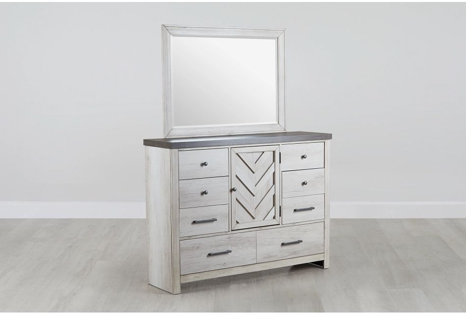 Casper Light Tone Dresser & Mirror