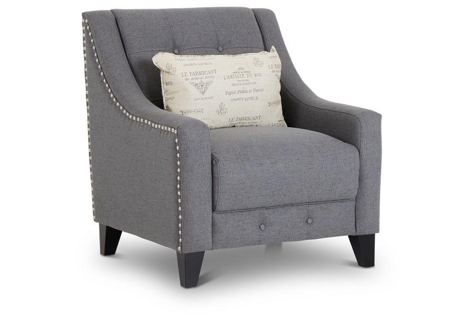Hutton Dark Gray Fabric Chair,  (1)
