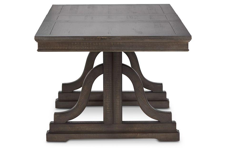 Heron Cove Dark Tone Trestle Table,  (3)