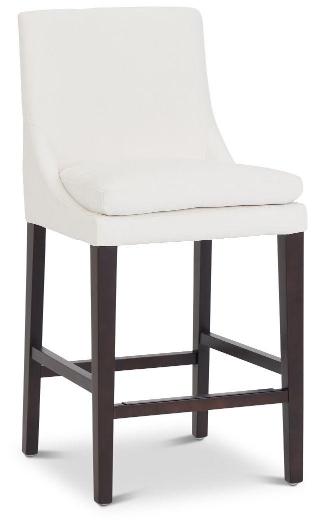 """Tito White 24"""" Upholstered Barstool (1)"""