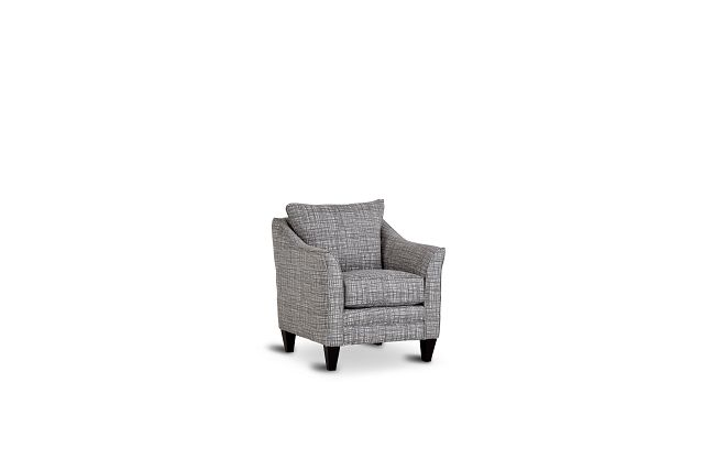 Hugo Gray Fabric Accent Chair (1)