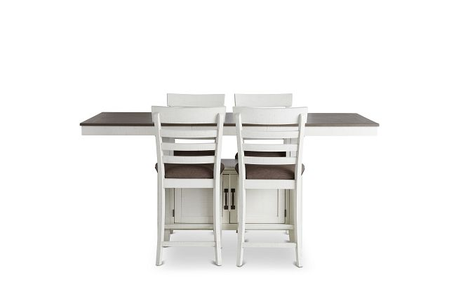 Huntsville Two-tone Rect High Table & 4 Barstools (3)