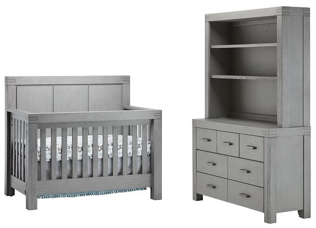 Piermont Gray Large Crib Bedroom