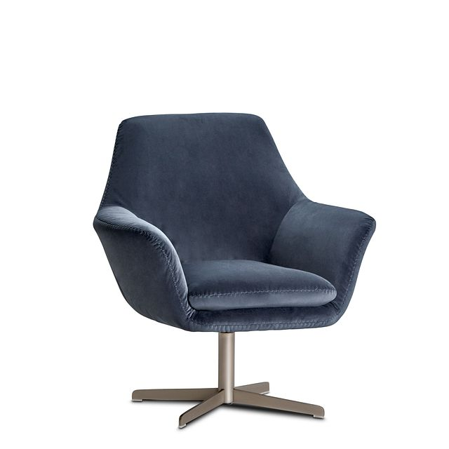 Xander Dark Gray Velvet Swivel Accent Chair (0)