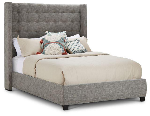 Chatham Pewter High Platform Bed (3)