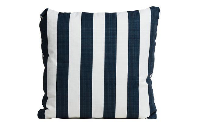 """Stripe Blue 20"""" Indoor/outdoor Accent Pillow"""